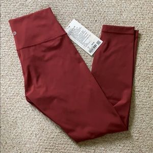 "NWT Lululemon Wunder Under HR Tight 25"" FLux"